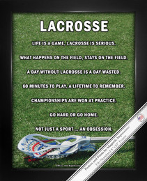 Framed Lacrosse Male Stick 8x10 Poster Print