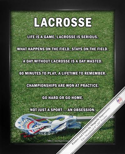 Framed Lacrosse Male Stick 8x10 Poster Print
