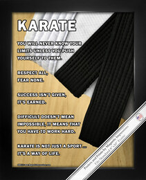 Framed Karate 8x10 Sport Poster Print