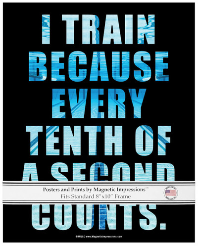 Swimming Tenth of a Second Quote 8x10 Poster Print