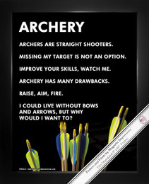"Framed Archery Arrows 8"" x 10"" Sport Poster Print"