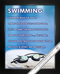 "Framed Swimming Goggles 8"" x 10"" Sport Poster Print"