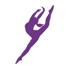 Dancer Modern Leap Window Decal in Lavender