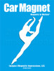 Dancer Modern Leap Car Magnet in white