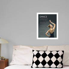 "Dance Pose 13.75"" x 17"" Dance Wall Decal"