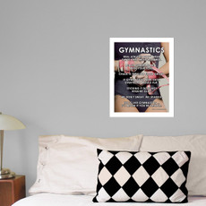 "Gymnastics Leotard 13.75"" x 17"" Wall Decal in room"