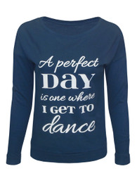 Women's Perfect Day Long Sleeved Shirt in Slate Blue
