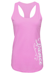 Women's Dance Script Relaxed Racerback Tank Top in Orchid