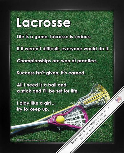 Framed Lacrosse Women's Inspirational 8x10 Sport Poster Print
