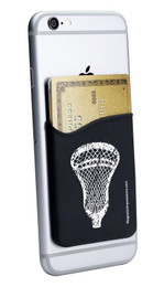 Lacrosse Head Cell Phone Wallet in black. Phone and cards not included.