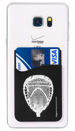 Lacrosse Goalie Head Cell Phone Wallet. Phone and cards not included.