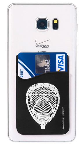 Lacrosse Goalie Head Cell Phone Wallet 1 Pack