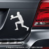 Volleyball Player Male Car Magnet on car