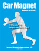 Volleyball Player Male Car Magnet in chrome