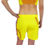 Women's Softball Laces Athletic Shorts rear view