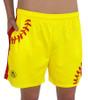 Women's Softball Laces Athletic Shorts