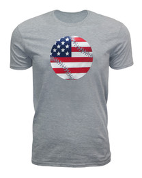 Men's American Flag Baseball T-shirt-USA Softball