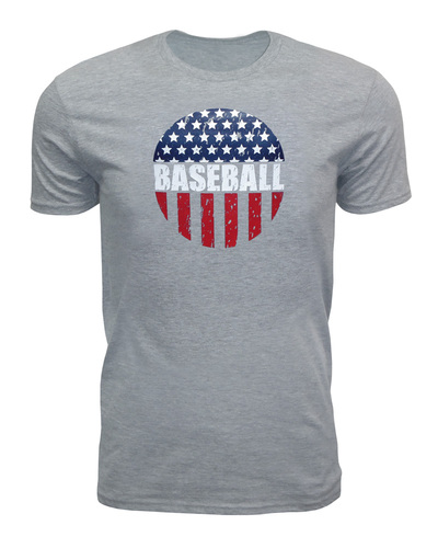 Men's American Flag Baseball T-shirt-USA