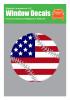 Baseball Softball USA American Flag Decal Sticker