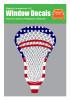 Lacrosse Head USA American Flag Sticker - Vinyl Window Decal