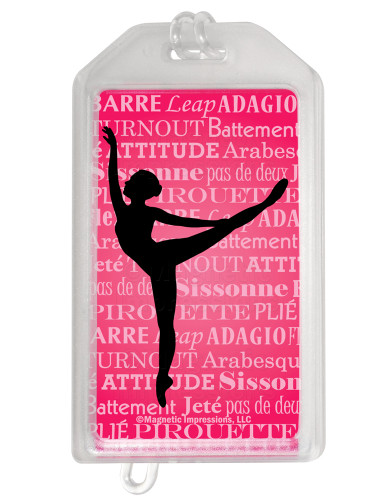 Ballet Dancer Arabesque Plastic  Luggage Tag