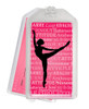 Ballet Dancer Arabesque Plastic  Luggage Tag front and back