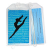 Modern Dancer Leap Plastic Luggage Tag front and back