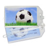 Soccer Ball Sky Photo Plastic Luggage Tag front and back