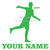 Disc Golf Player Male Car Window Decal in lime