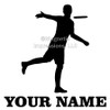 Disc Golf Player Male Car Window Decal in black