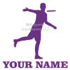 Disc Golf Player Male Car Window Decal in lavender