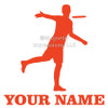 Disc Golf Player Male Car Window Decal in orange