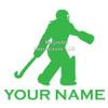 Field Hockey Goalie Window Decal  in lime
