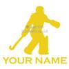 Field Hockey Goalie Window Decal in yellow