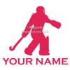 Field Hockey Goalie Window Decal in hot pink