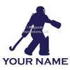 Field Hockey Goalie Window Decal in blue