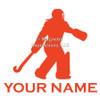 Field Hockey Goalie Window Decal in orange