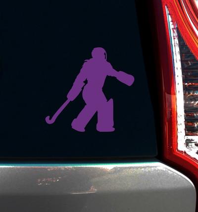 Field Hockey Goalie Window Decal on car