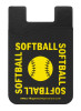 Softball Word Typography Cell Phone Wallet