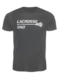 Men's Lacrosse Dad Stick T-Shirt in Charcoal