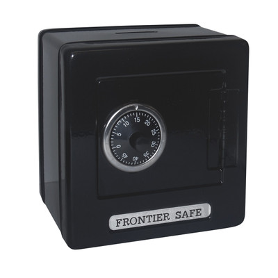 Kid's Frontier Safe Coin Saver Bank with 2 Digit Combination Lock in black