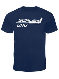 Men's Ice Hockey Goalie Dad Stick T-Shirt in Navy
