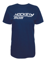 Women's Ice Hockey Mom Stick Unisex T-Shirt in Navy