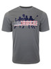 Men's Lacrosse Team with USA Word Performance T-Shirt in Charcoal