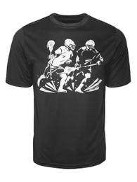 Men's Lacrosse Middie Players Performance T-Shirt in Black