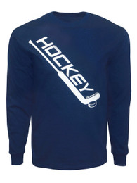 Men's Ice Hockey Diagonal Goalie Stick Long Sleeve Shirt