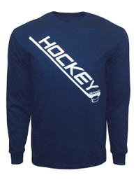 Men's Ice Hockey Diagonal Stick Long Sleeve Shirt