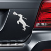 Lacrosse Dog with Lax Stick Car Magnet on Vehicle