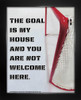 Framed Ice Hockey Goalie My House Saying 8 x 10 Sport Poster Print
