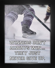 Framed Ice Hockey Inspirational Winners Quote 8 x 10 Sport Poster Print